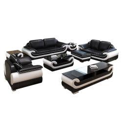 Il nero stabilito di Miami di disegno della Germania del sofà molle del sofà 123 con colore bianco