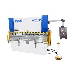 Wc67K 100t motor Siemens Servo-máquina de dobragem dobradeira hidráulica CNC chapa metálica com Da41 Controller