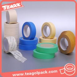 Cinta adhesiva adhesiva da alta temperatura del papel de Crepe, cinta