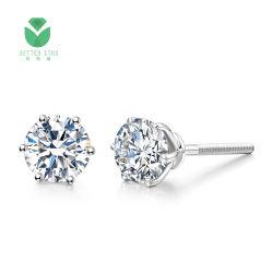 Diamant-Ohrring-Preis des weißes Gold18k Labor gewachsener