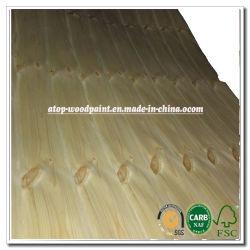 Papel 4x8 pies Hoja Knotty chapas de madera de pino Chapa de madera natural para el Panel de madera contrachapada