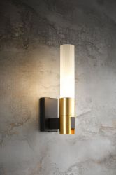 Dekorative 1 Eitelkeits-Wand-Lampe des Lite-GoldE14 mit bereiftem Glas (MB-11893-1)