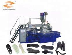 Автоматический поворотный 1 цвета TPU/Tr кожаную обувь единственной машины литьевого формования