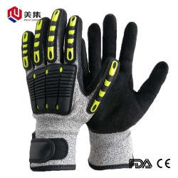 CER bestätigte neuer Rabatt-chinesischen Lieferanten Sicherheits-Arbeits-Nitril-Latex-der schützenden industriellen Antischnitt-Funktions-Handschuhe