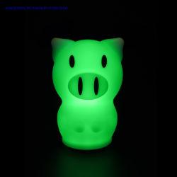 شعبيّة بلاستيكيّة خنزير لاسلكيّة [رغب] زاويّة [لد] مسيكة لين مزح ضوء مع ليّنة سليكوون مصباح لأنّ طفلة غرفة نوم