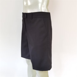 Homens negros Leisure Suit Style Calções soltos moda calça curta uniforme para escritório com fecho de correr