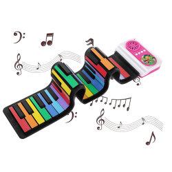Flexible de Rainbow Roll up Piano Piano colorés Toy clavier de piano pour les enfants Instrument de musique