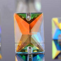 Para la ropa, piedras de cristal de color Ab coser en Estrás