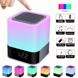 Нажмите кнопку беспроводной связи ночное освещение динамик, портативный красочные ночное освещение светодиодный индикатор беспроводной сенсорной лампа беспроводной динамик