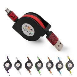 Alimentação de Shenzhen Cabo USB Retráctil 2 em 1 cabo de dados celular 120cm 150cm Cabo USB de carregamento
