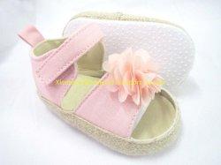 حذاء زهري من نوع chiffon Flower Sandal Baby للفتيات