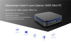 Mini PC Android del PC Ak1 J3455 4G 32g Win10 mini