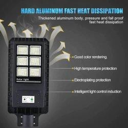 옥외 높은 광도 및 긴 노동 시간 태양 에너지 가로등 60W 90W 120W 150W 200W 250W 300W 태양 가로등 LED