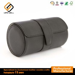 Pg Pocket ronde en cuir marron montre-bracelet titulaire