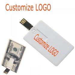 El plástico PVC Tarjeta de crédito USB Flash Drive USB 2.0