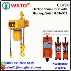 Hete Verkoop! ! ! Hijstoestel van de Ketting van Wkto 3t het Elektrische met Haak met Uitglijdende Koppeling voor Kraan
