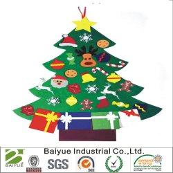 De gevoelde Vastgestelde Ornamenten van de Boom van Kerstmis Hangende voor de Giften van Kerstmis