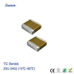 condensatore di ceramica del chip a più strati di 1000PF 6.3V 0402 Z5u