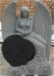 Monumento/pietra tombale/lapide neri del granito della Cina di stile russo, pietra tombale del granito in Variou