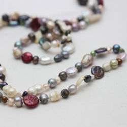 Baroque Pearl Fashion Long Necklace Jewellery (E190025)