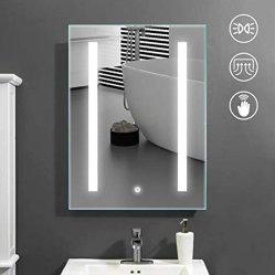 Montado en la Pared 3000-6500K Hotel Baño Maquillaje Espejo con Luz LED con Desempañador de Sensor Táctil