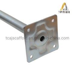 Base ajustable Jack galvanizado Ringlock Andamios Andamios Sistema de Base de Jack