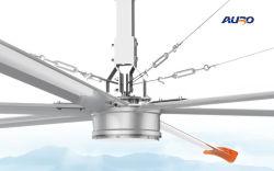 Última do íman permanente do Motor Síncrono Hvls Factory grande ventilador de teto