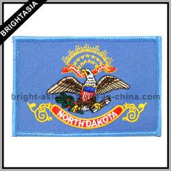 Insigne Embroided rectangulaire pour un logo personnalisé (BYH-10751)