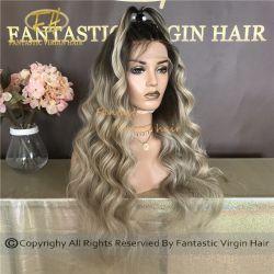 10A к категории китайский Virgin/Сен Реми человеческого волоса в полной мере/фронтальной кружева Balayage Clolor Wig с