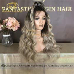De in het groot Braziliaanse/Indische Virgin/Remy Pruik van het Kant van het Menselijke Haar HD Volledige/Voor met Uw Beste Verkoper van het Haar