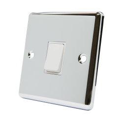 الكروم المصقول UK 1 Tالمجمع 1 10A ذو الاتجاه الواحد الضوء الكهربائي مفتاح الحائط