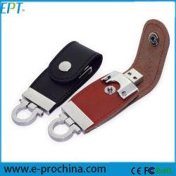 Disque à mémoire de forme de boucle en cuir Stylo USB Flash Drive (EL060)