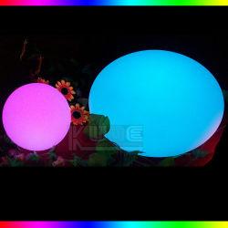 Promoción impermeable Recargable Inalámbrico de flash de color LED decorativas bolas plana