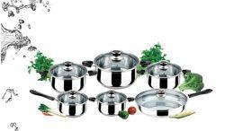Установленный Cookware Stainles стальной многофункциональный (JQB-5518)