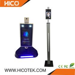 Bedieningspaneel voor toegang tot de kaartlezer voor de scanner voor het meten van de lichaamstemperatuur Infrarood WiFi IP CCTV Security System camera voor gezichtsherkenning