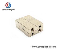 Imán rectangular Rectangular Material imán con agujeros avellanados