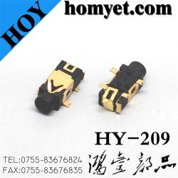 5개의 Pin 등록 돛대를 가진 2.5mm SMT 유형 전화 플러그 구멍 오디오 잭