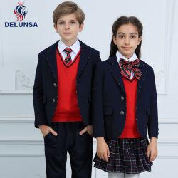 Últimos diseños en negro invierno uniforme escolar Blazer
