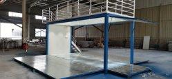 2021 elegante blauw/witte kleur vouwcontainer Coffee Shop met dak