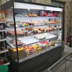 Abra o resfriador de ar hipermercados, Grab & Go casos refrigerados