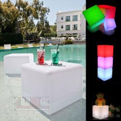 Cube étanche Table et chaise table pour la piscine de plein air