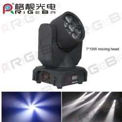 7ПК 10W белые светодиоды перемещение светового пучка света