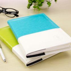 習慣によってロックの螺線形日記のノートの/PU浮彫りにされる革日記