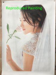 写真からのハンドメイドの再生の結婚式肖像画の油絵