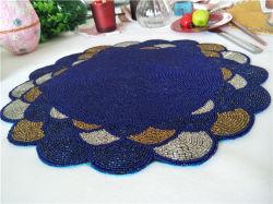 工場直接販売のビーズのマットのハンドメイドのコップのMatdishesディスクパッドの夕食のフラグ表マットの茶表マットの熱絶縁体のパッド01