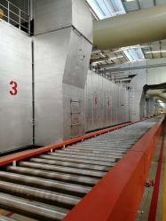 إنتاج سنويّة من 15 مليون عدادات مربّعة من [جبسوم بوأرد] [برودوكأيشن لين] ([هت سورس] بخار)