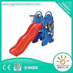 屋内プレイグラウンド装置子供用バスケットスタンド付きプラスチック製エレファントスライド