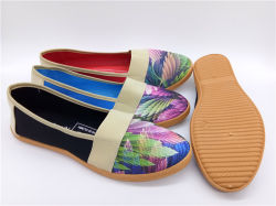 As mulheres de moda casual de injecção calçados sapatos de lona (PSF7905-5)