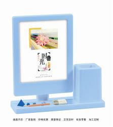 La vente en gros le calendrier de bureau personnalisés créatif coloré avec porte-stylet