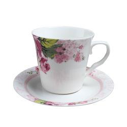 대중적인 디자인 새로운 본 차이나 최고 우유 커피 고정되는 사기그릇 찻잔과 접시 고정되는 세라믹 차잔 세트
